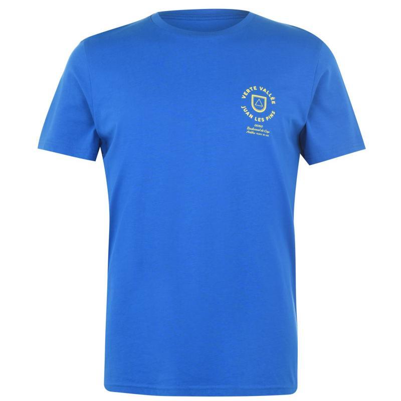 Tričko Verte Vallee Short Sleeve Print T Shirt Royal Blue
