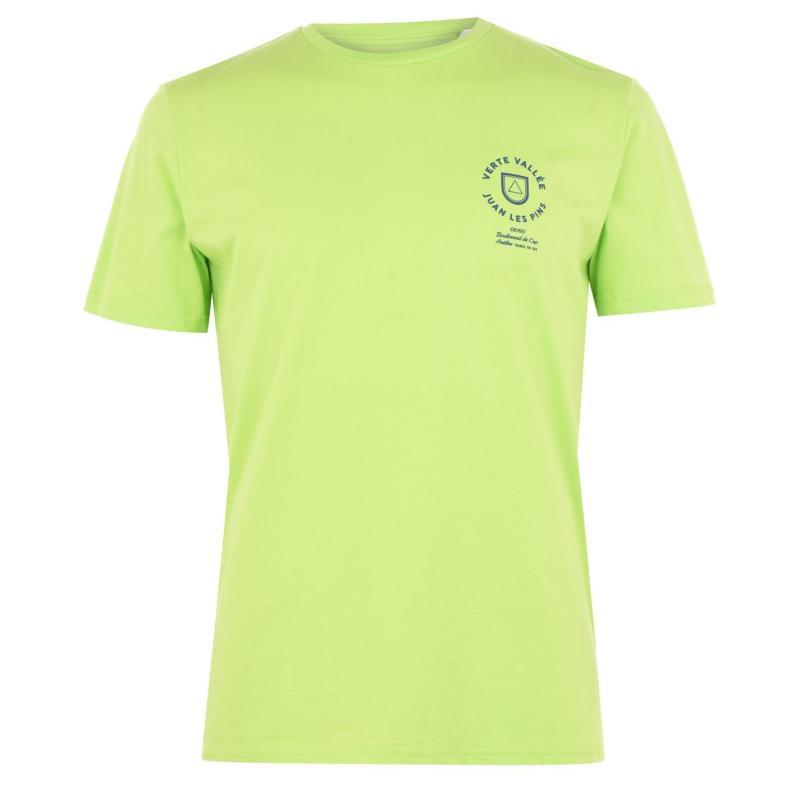 Tričko Verte Vallee Short Sleeve Print T Shirt Scale Green