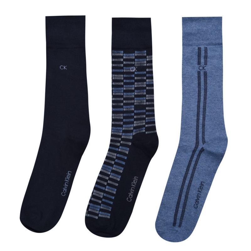 Ponožky Calvin Klein 3 Pack Birdseye Socks Mens Multi 97