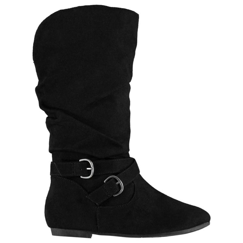 Label Lab Buckle Child Girls Boots Black