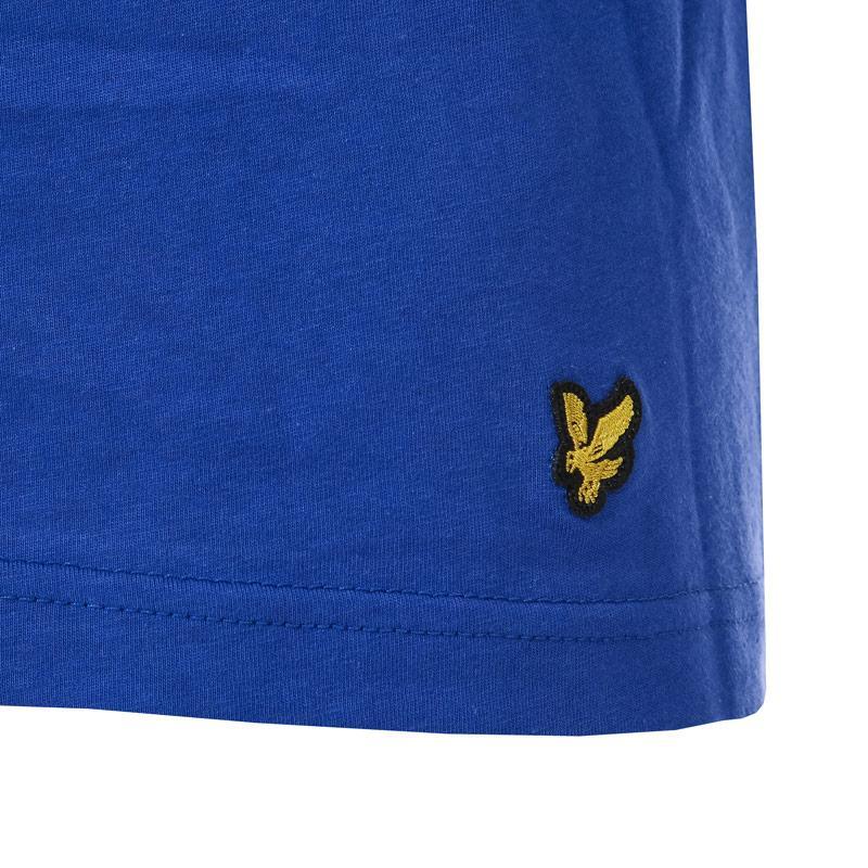 Tričko Lyle And Scott Mens Maxwell 3 Pack Lounge T-Shirts black blue