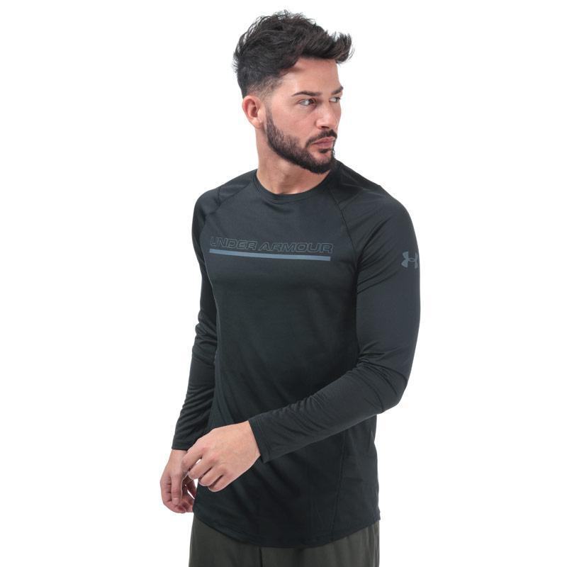 Under Armour Mens MK1 Long Sleeve Wordmark T-Shirt Black