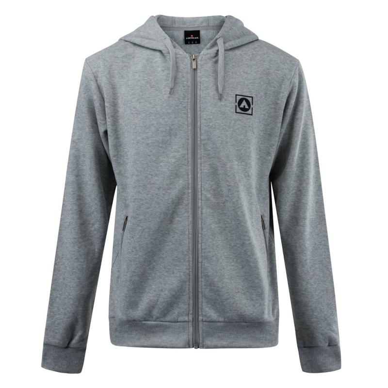 Mikina Airwalk Zip Hoody Mens Grey