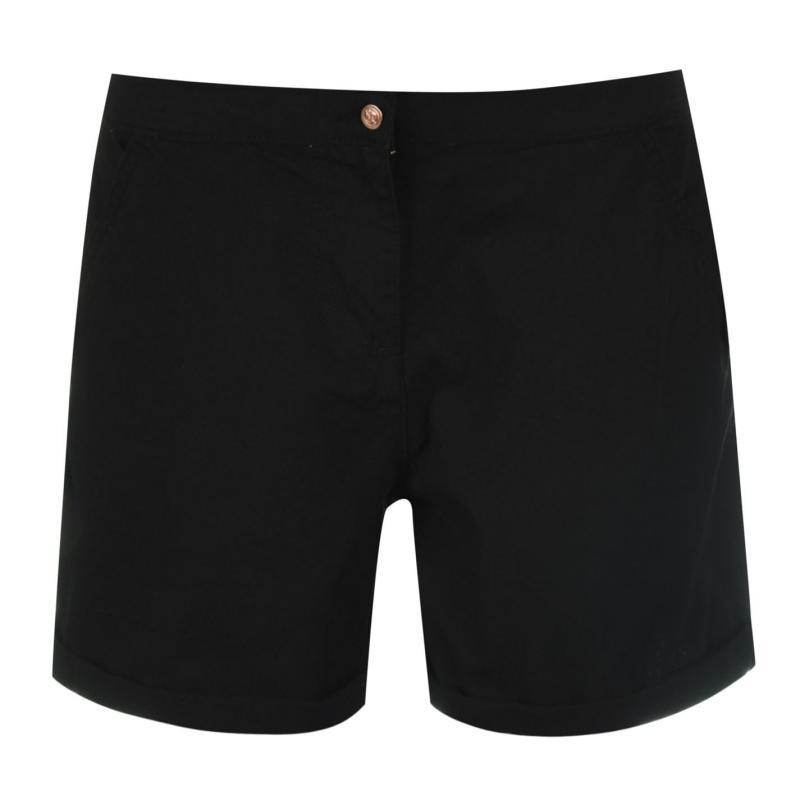 Rock and Rags Poplin Shorts Ladies Black
