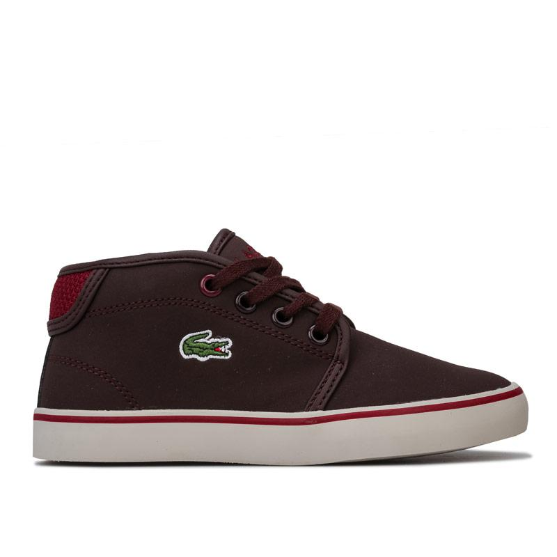 Boty Lacoste Children Boys 318 Ampthill Trainers Brown