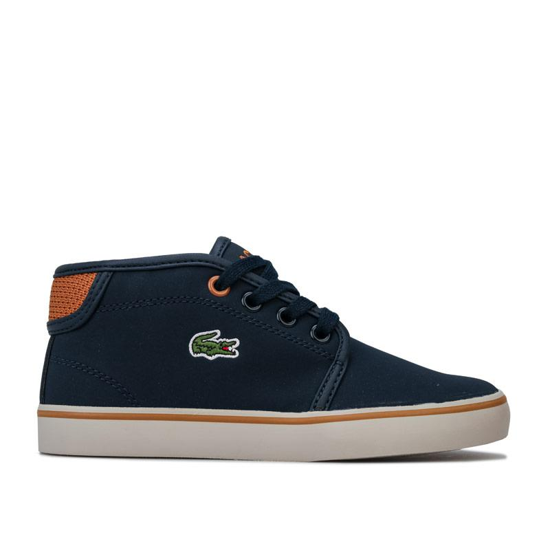 Boty Lacoste Children Boys 318 Ampthill Trainers Navy