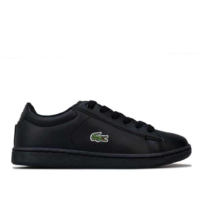 Boty Lacoste Children Boys Carnaby Evo Trainers Black