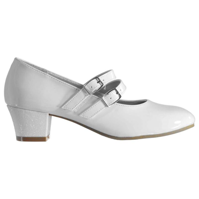 Label Lab Mary Jane Child Girls Heels White