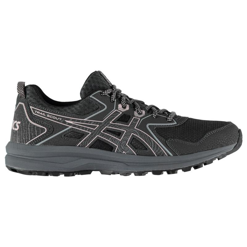Asics Trail Scout Ladies Trail Running Shoes Grey/Pink