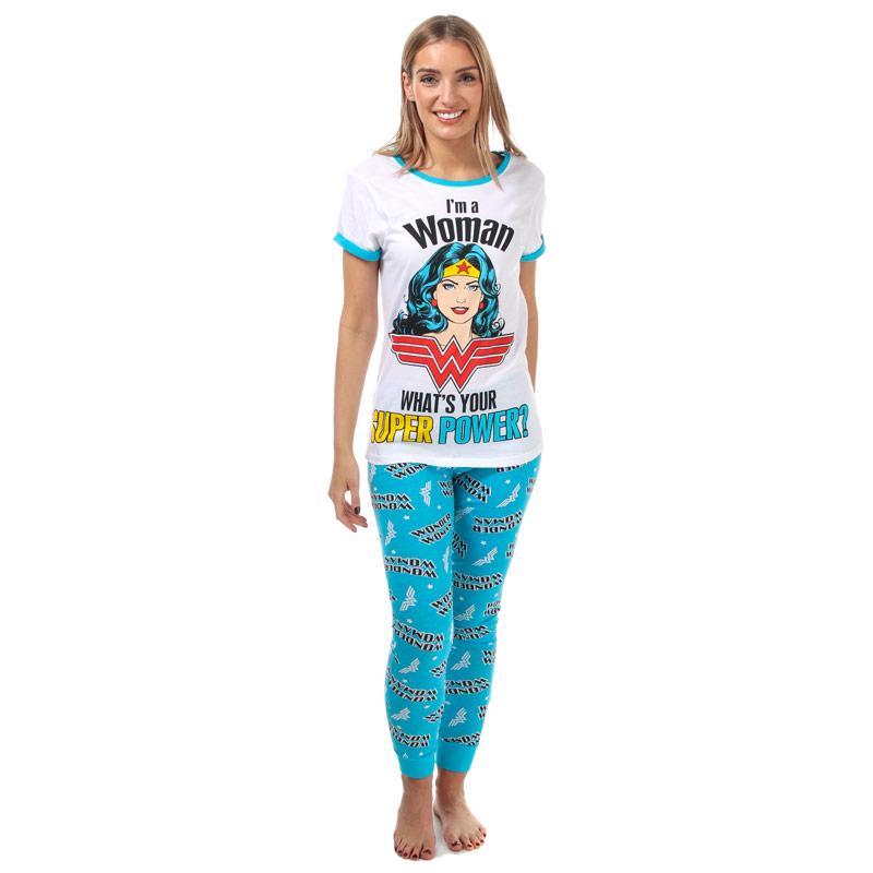 Pyžama DC Comics Womens Wonder Woman Pyjamas White blue