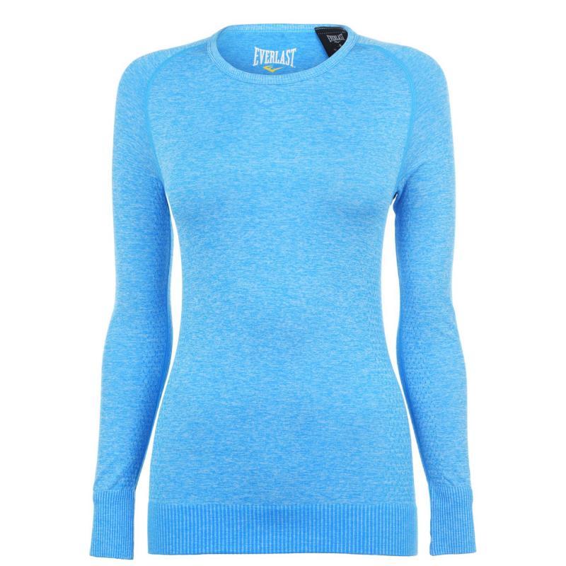 Tričko Everlast Long Sleeve T Shirt Ladies Blue Marl