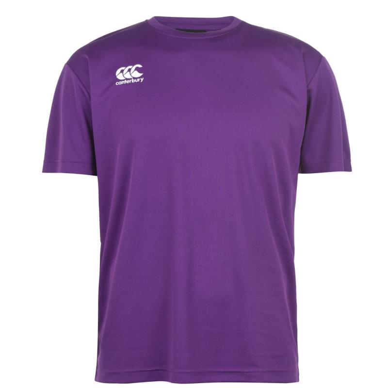 Canterbury Short Sleeve Training T Shirt Mens Purple