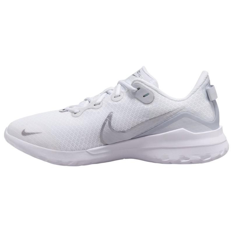 Nike Renew Ride Women's Running Shoe WHITE/METALLIC SILVER-PURE PLA