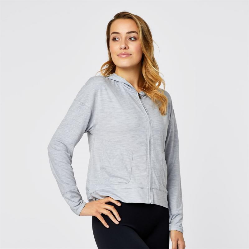 Mikina s kapucí USA Pro Slouch Hoodie Ladies Grey Marl