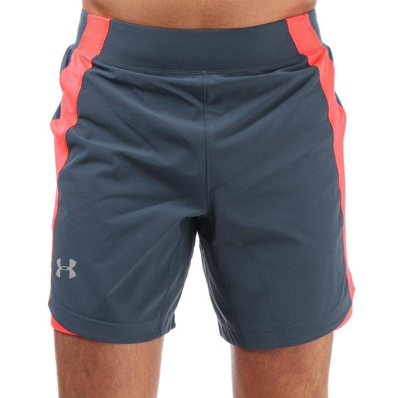 Under Armour Mens Qualifier Speedpocket 7inch Shorts Grey