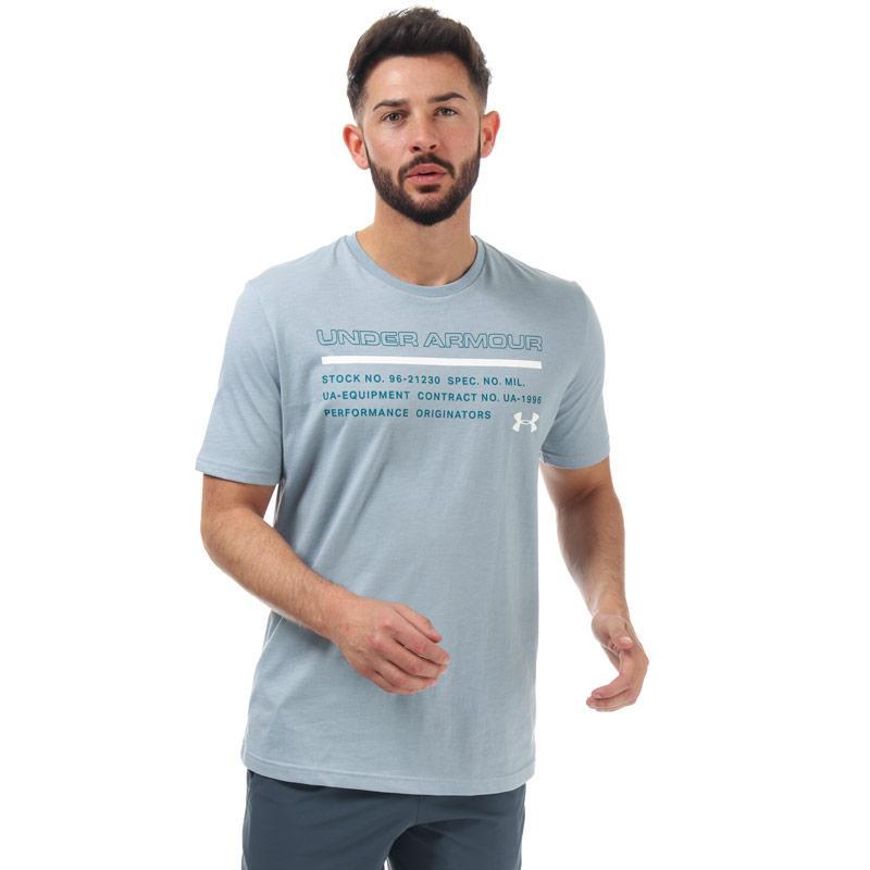 Tričko Under Armour Mens UA Issued T-Shirt Blue