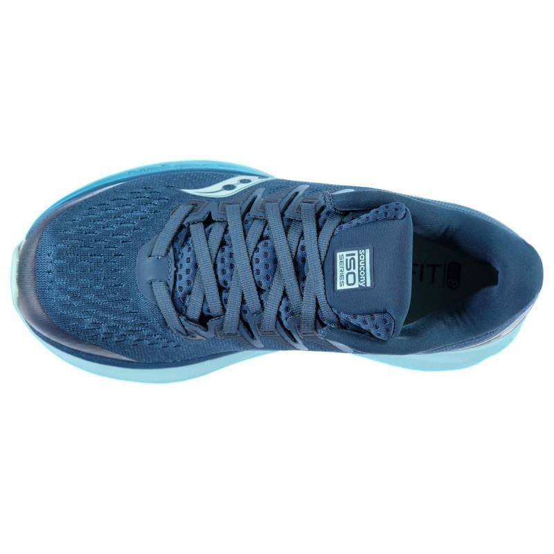 Saucony Ride ISO 2 Ladies Running Shoes Blue/Aqua