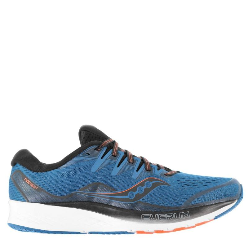 Saucony Ride ISO 2 Men's Running Shoes Black/Blue