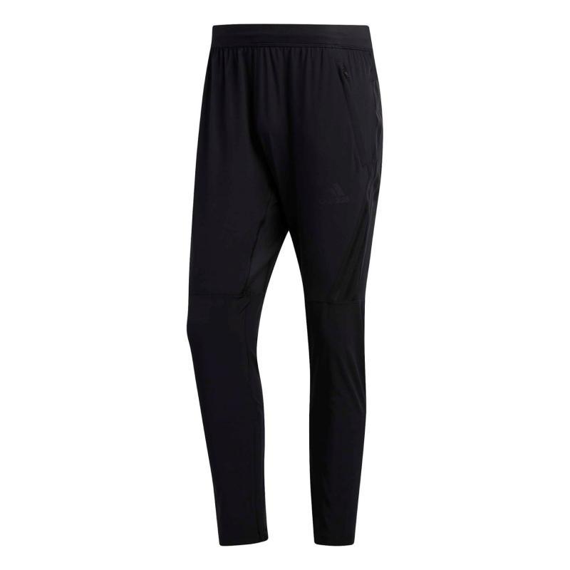 Tepláky adidas Mens Aeroknit 3-Stripes Track Pants Black