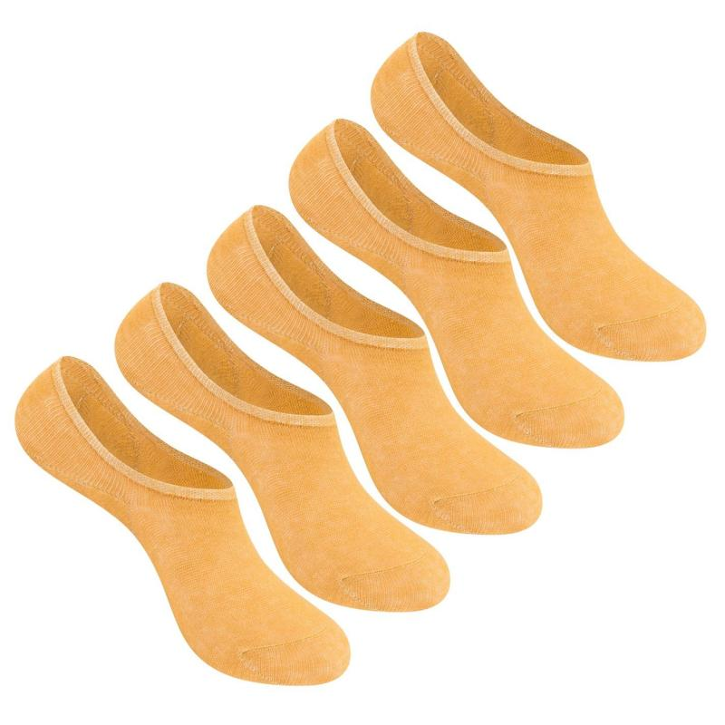 Ponožky Giorgio 5 Pack Invisible Socks Ladies Brown