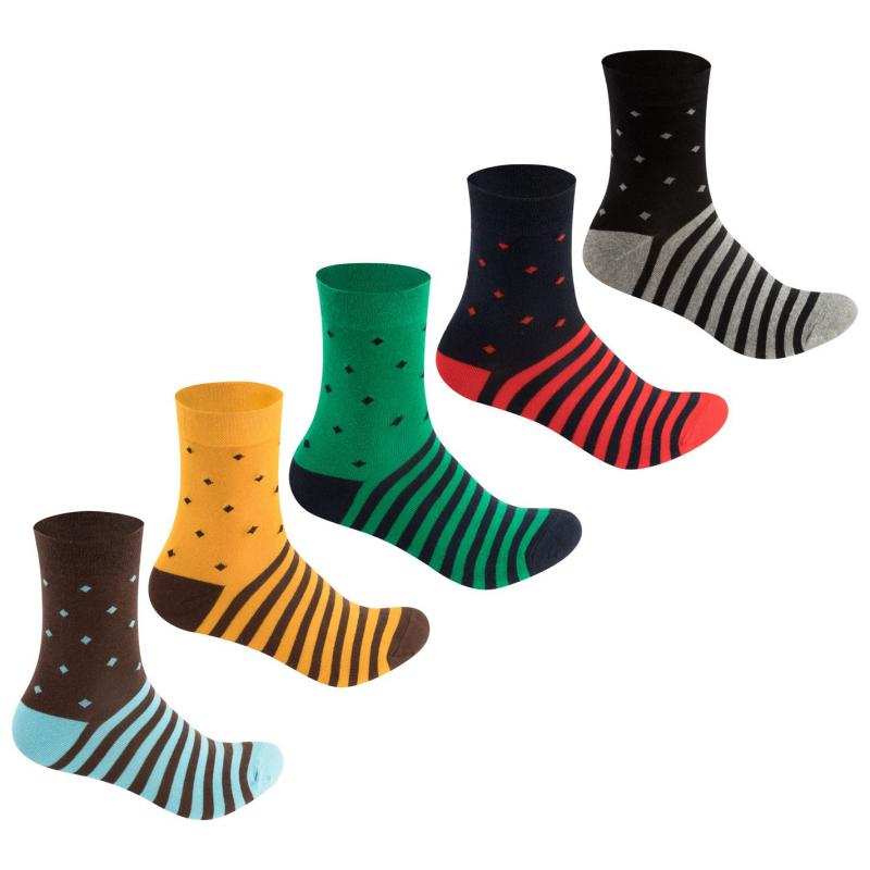 Ponožky Lee Cooper 5 Pack Polka Dot Socks Ladies Multi