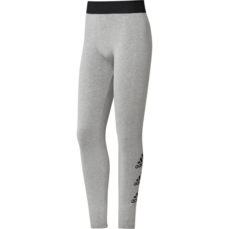 Legíny adidas Stacked Logo Tights Womens Grey/Black