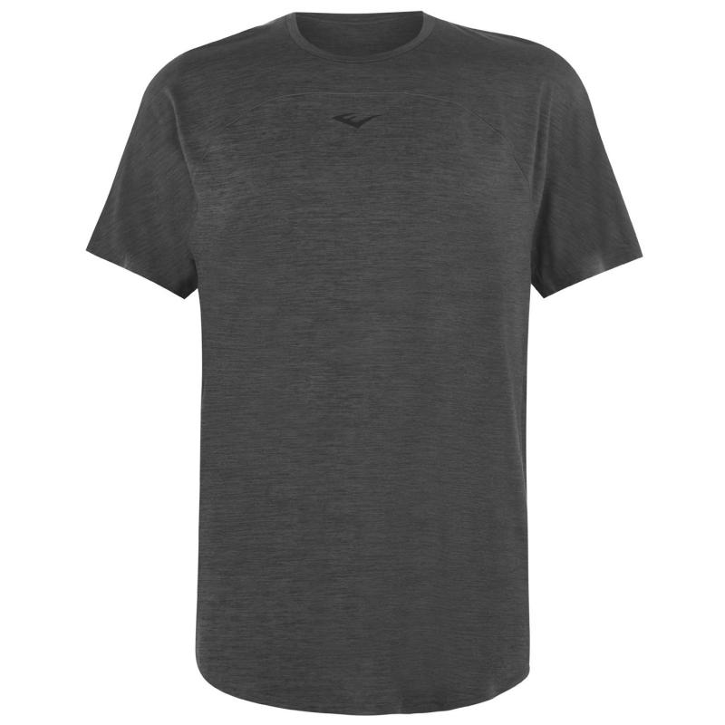 Everlast Poly T-Shirt Mens Charcoal Marl