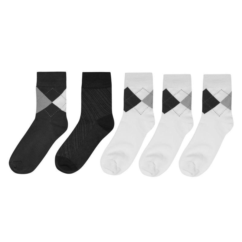 Ponožky Giorgio 5 Pack Bamboo Socks Mens Chk Multi