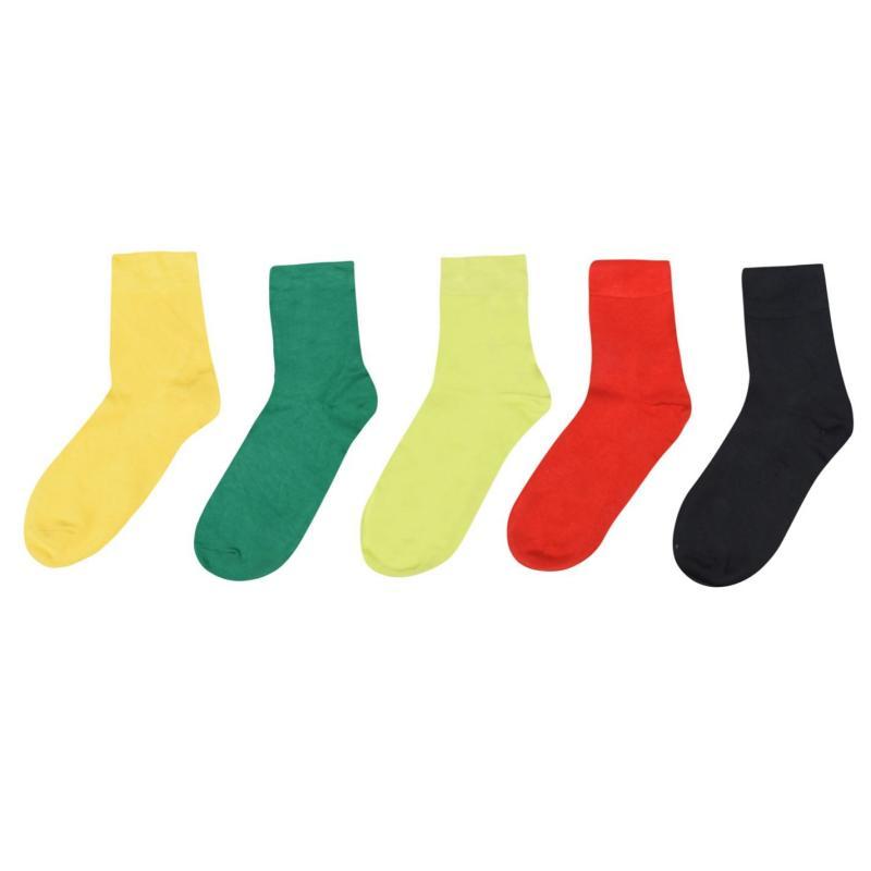 Ponožky Giorgio 5 Pack Bamboo Socks Mens Multi