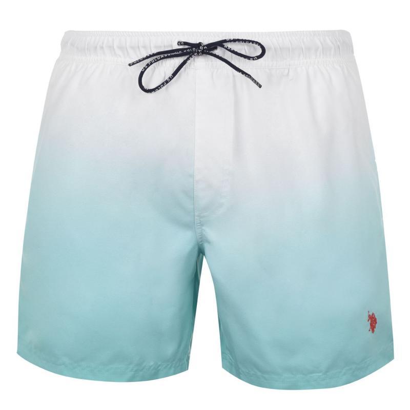 Plavky US Polo Assn Ombre Swim Shorts Mens Wht/ Opal