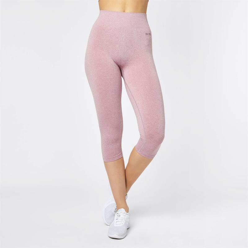 USA Pro Seamless Capri Leggings Ladies Foxglove Pink