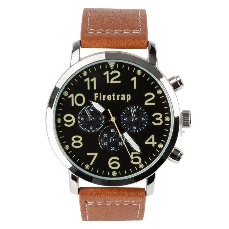 Crafted Essentials Aviator Watch Mens Brown