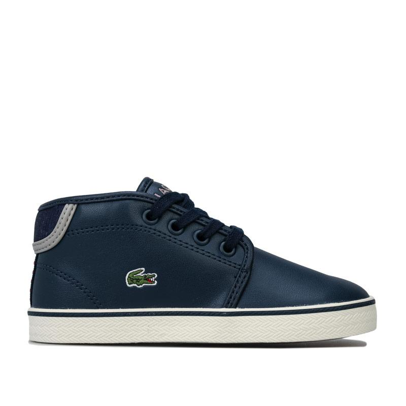 Boty Lacoste Infant Boys 119 Ampthill Trainers Navy Grey