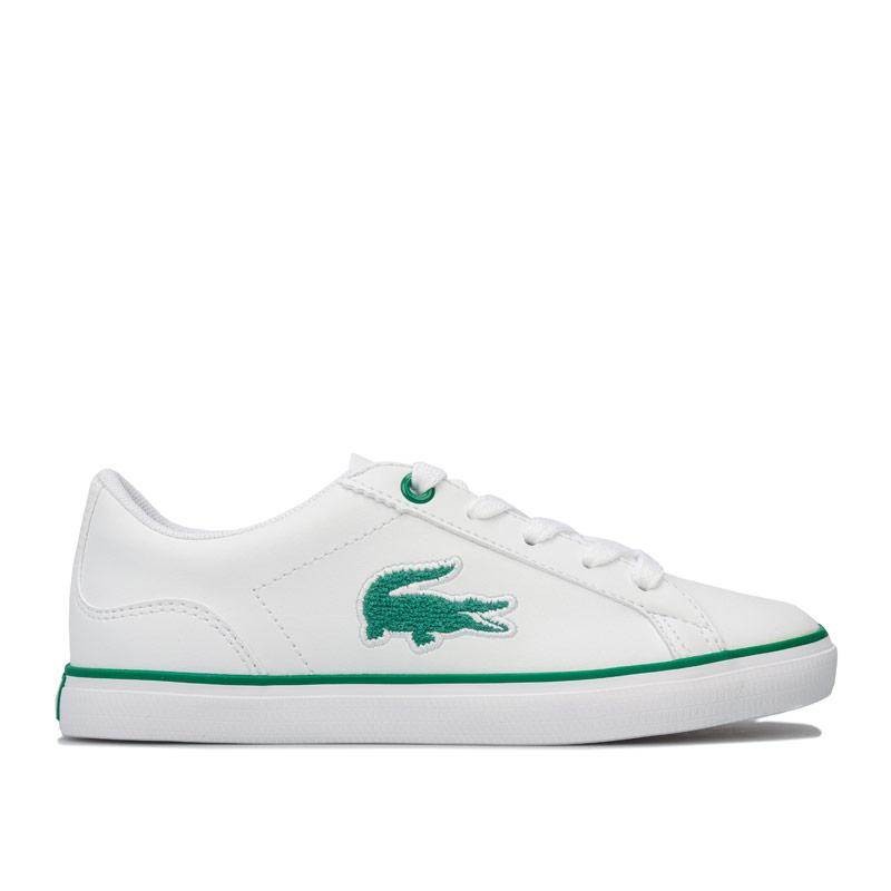 Boty Lacoste Infant Boys 318 Lerond Trainers White Green