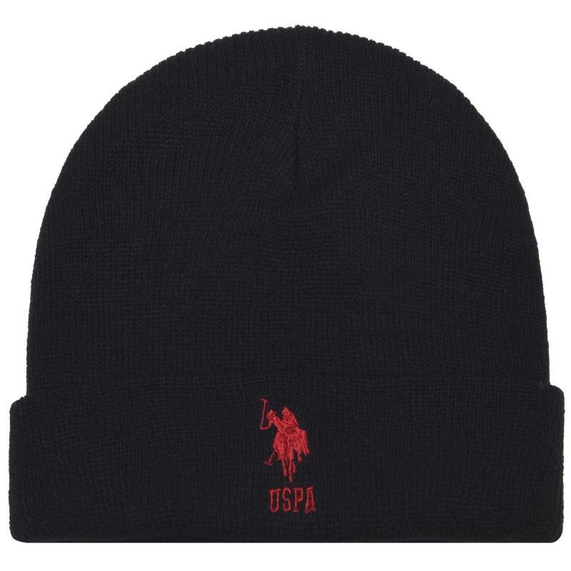 US Polo Assn Knit Beanie Black