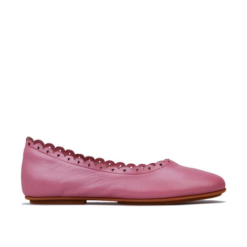 Fit Flop Womens Allegro Floret Ballerina Shoes Rose