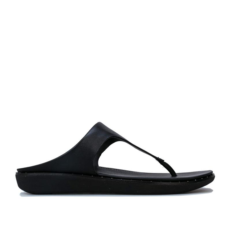 Boty Fit Flop Womens Banda II Toe Thong Sandals Black