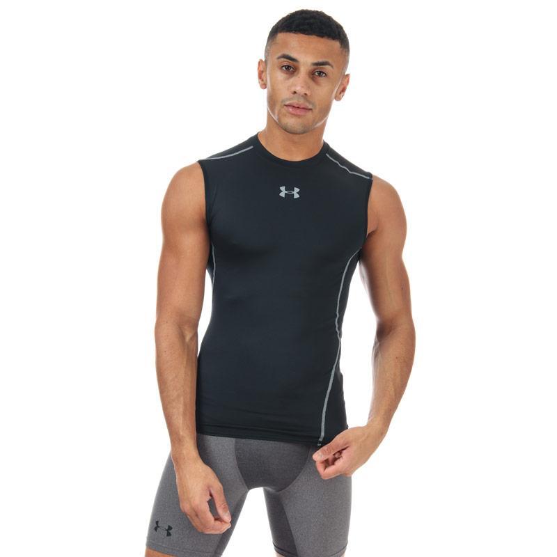 Tričko Under Armour Mens Armour Sleeveless Compression Shirt Black
