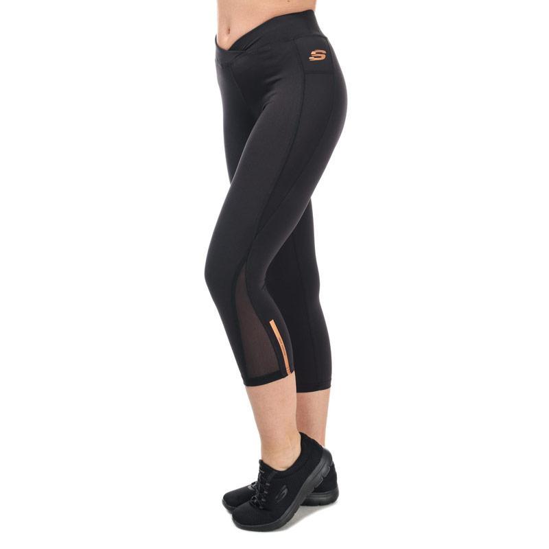 Skechers Womens Emerson Crop Tights Black