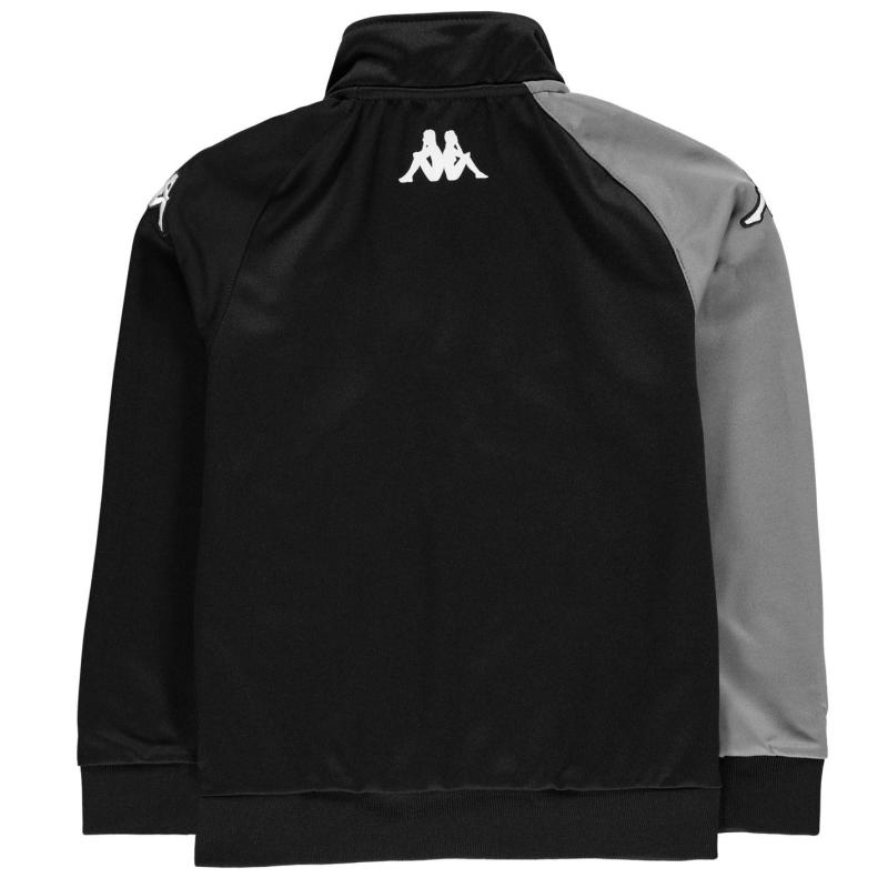 Bunda Kappa Arqua Tracksuit Jacket Junior Boys Black /Smoke