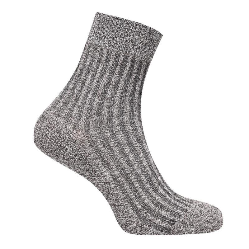 Ponožky Lee Cooper 3 Pack Rib Crew Socks Mens Beige Marl