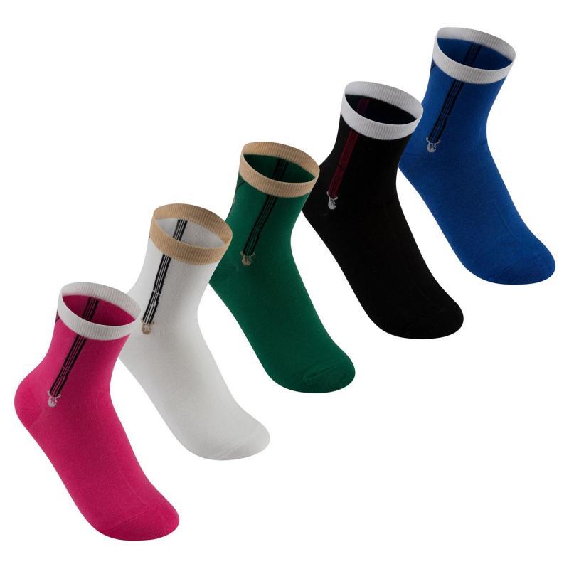 Ponožky Lee Cooper 5 Pack Leisure Socks Ladies Multi