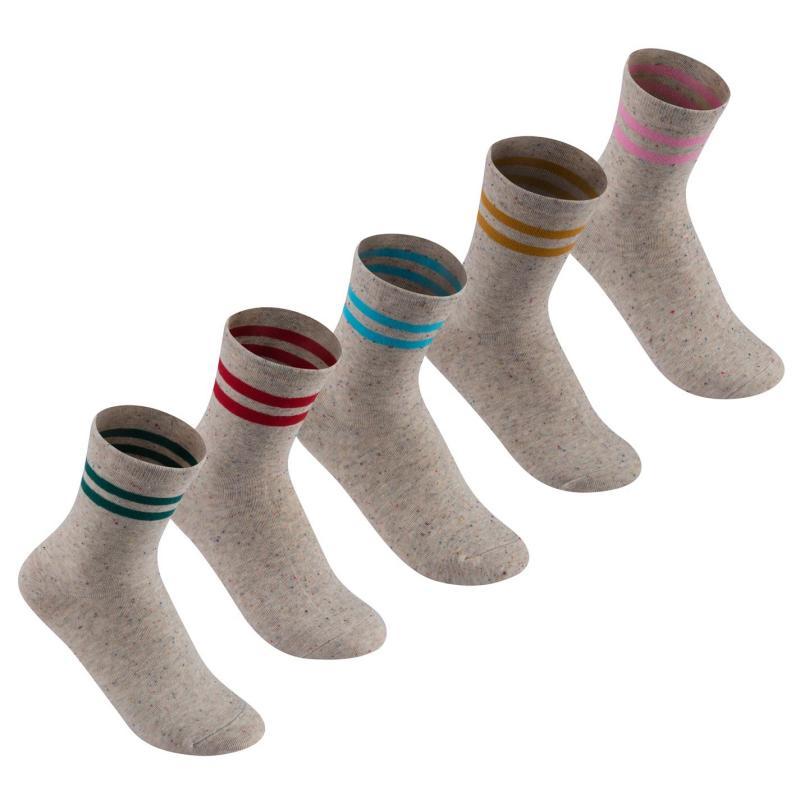 Ponožky Lee Cooper 5 Pack Splatter Socks Ladies Multi