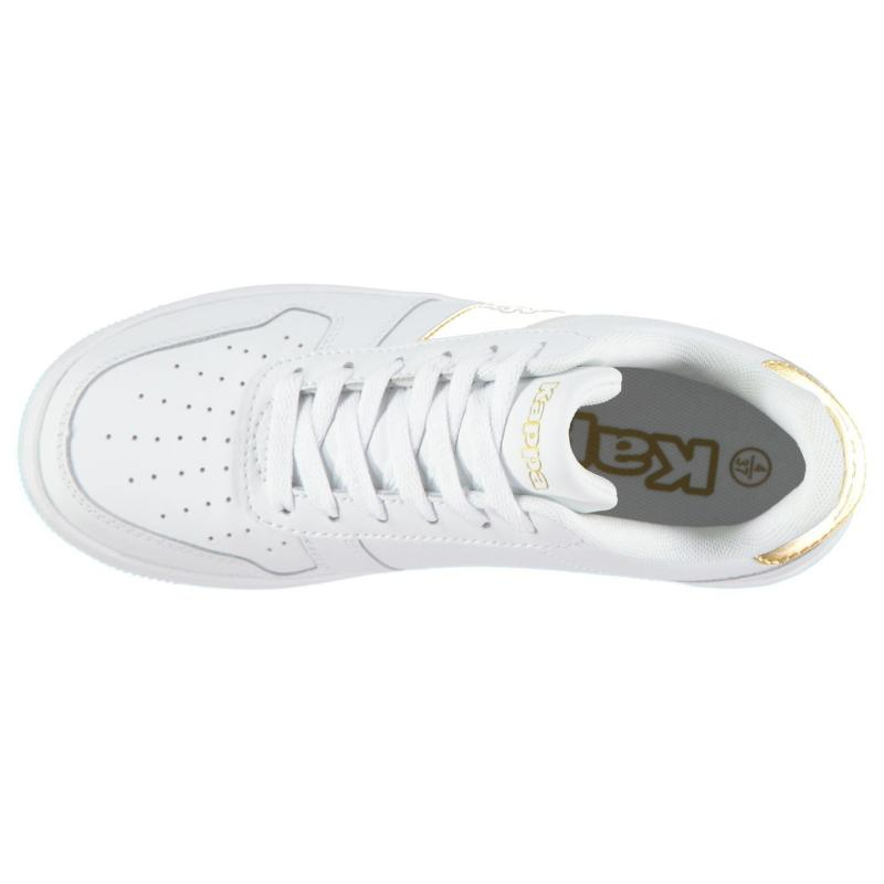 Kappa La Morra Trainers Ladies White/Gold