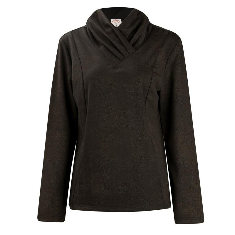 Mikina s kapucí Lee Cooper Fashion Pullover Ladies Black/Gold