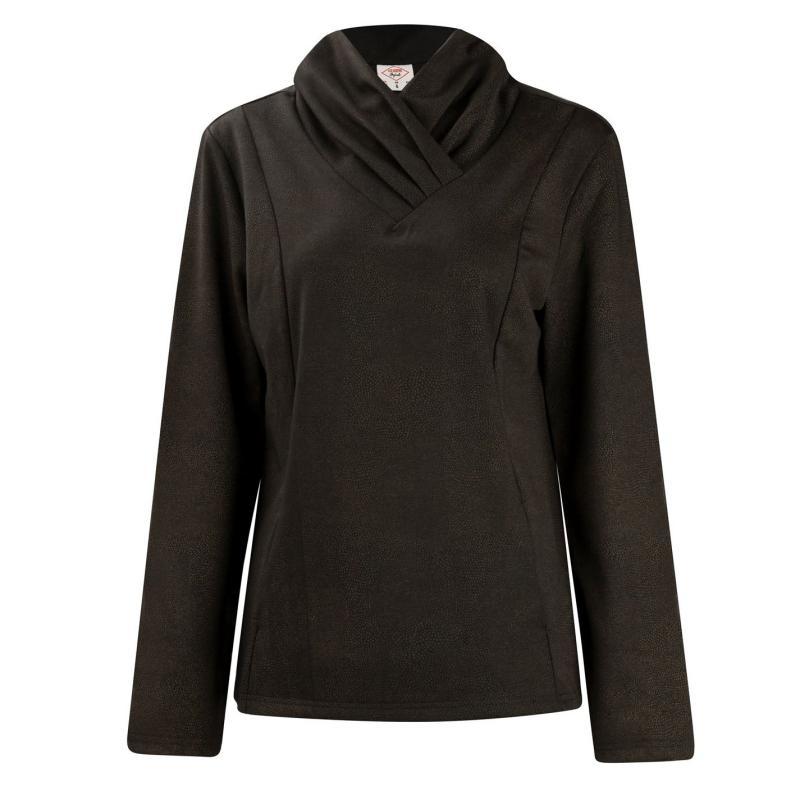 Mikina s kapucí Lee Cooper Fashion Pullover Ladies Black/Gold