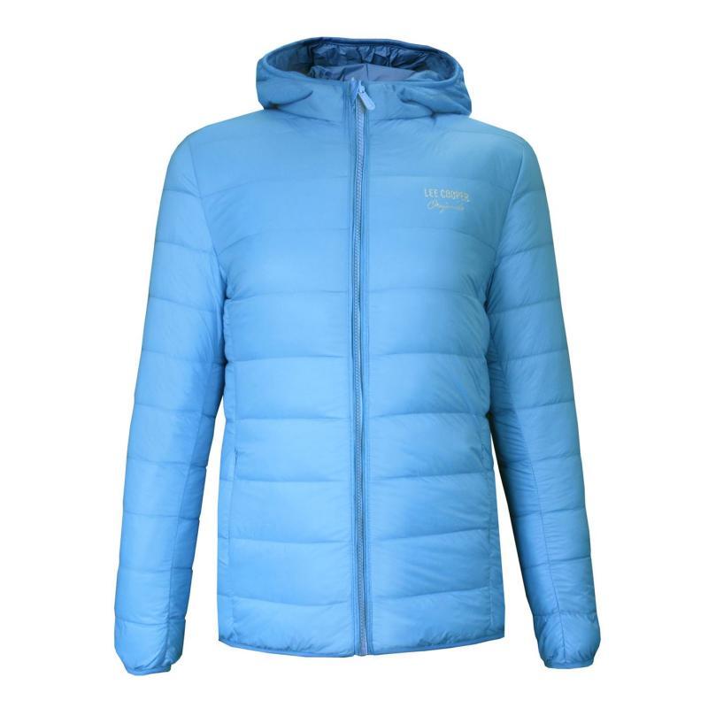 Lee Cooper Originals Xlite Hooded Down Jacket Girls Sky Blue