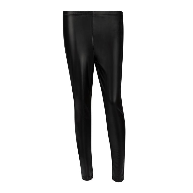 Kalhoty Lee Cooper PU Pants Ladies Black