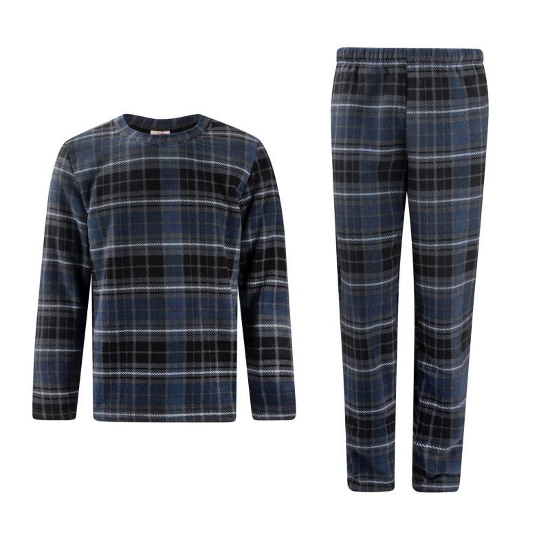 Pyžamo Lee Cooper Pyjama Set Mens Navy/Chk