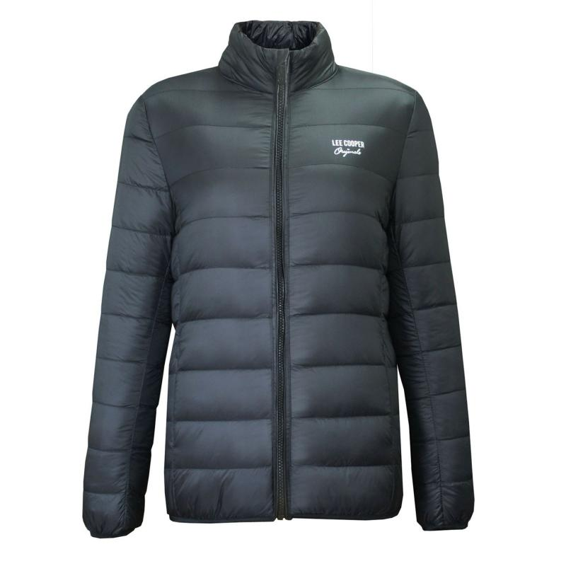 Lee Cooper Xlite Down Jacket Girls Black